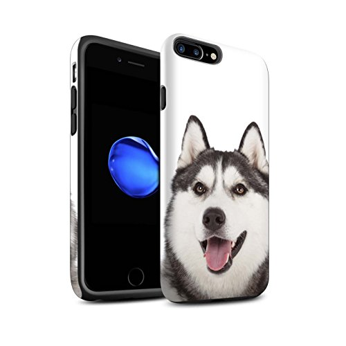 STUFF4 Matte Harten Stoßfest Hülle / Case für Apple iPhone 7 Plus / Bull Terrier Muster / Hund/Hunde Kollektion Husky/Heiser