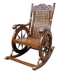 Tayyaba Enterprises Pure Sheesham Wooden Rocking Chair
