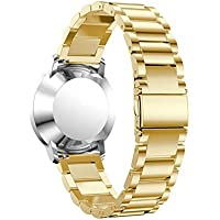 bescita Nuovo Acciaio Inossidabile Bracciale Smart Watch Band Strap per Withings activite Steel, gold