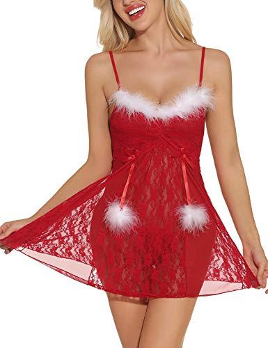 Sykooria Conjunto lencería navideña Mujer