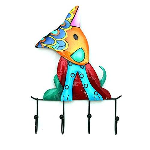 gall-zick-amp-hook-key-hook-rack-with-4-hooks-dog-funky