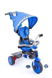 United Kids 13015-09 - Dreirad 3 in 1 mit Teleskoplenkstange, blau