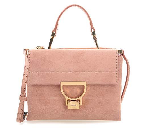 Coccinelle Arlettis Suede Small Handbag Pivoine
