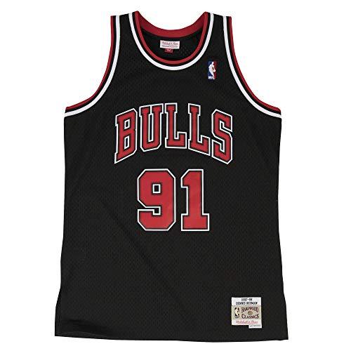 Mitchell&Ness M&N NBA Swingman Jersy Retro Trikot mit 7kmh Aufkleber Chicago Bulls - Dennis Rodman XL