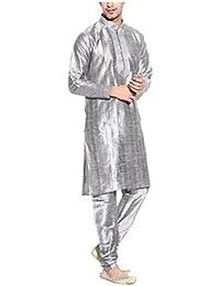 Royal Kurta Men's Silk Blend Pintuck Thread Sherwani
