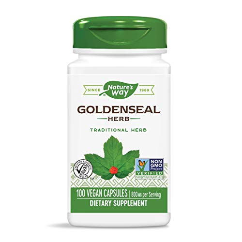 Nature's Way Goldenseal Herb Capsules, 400 mg, 100-Count