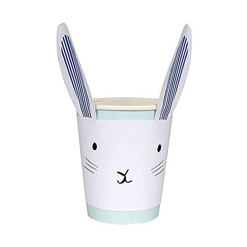 Osterhase Partybecher Streifen 12er Set (Bunny Vans)