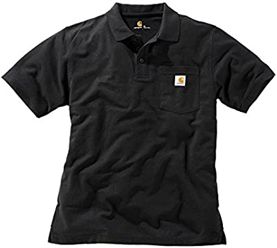 Carhartt contra ctors Work Pocket Polo, negro