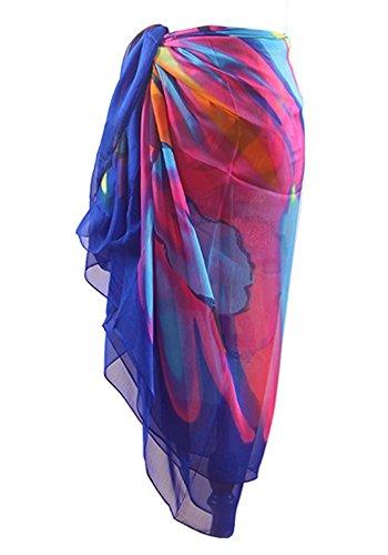 Große Sarong Beach Cover Up Wrap Beachwear Rock Kleid für Frauen