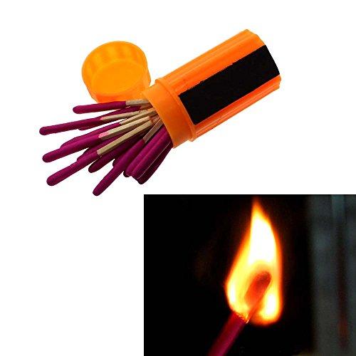 Image of Blendx 1 Packung 20 Stück Sturmfeste Streichhölzer wasserdichte Feuerzeuge Brennen etwa 15 Sekunden lang