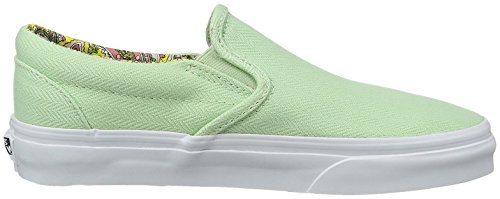 Vans Classic Slip On, Baskets Hautes Mixte Adulte Vert