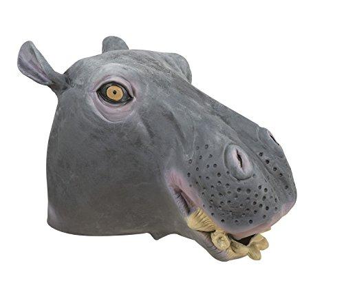 wn re41014–Maske Integralhelm Latex Nilpferd (Latex Maske Nilpferd)