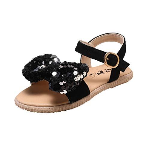 94744c9047 Soupliebe Niños niña Sandalias versión Lentejuelas Transpirable Zapatos  Casuales Niña Bailarina Zapatos de Tacón Disfraz de Princesa de Ballet  Sandalias de ...