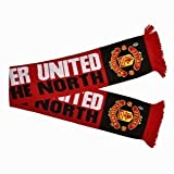 Manchester United MUFC Football Club Pride Of The North Red Scarf Badge Official