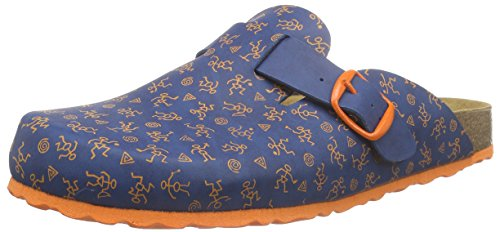 Lico Bioline Clog Kids, Baskets Basses Garçon Bleu - Blau (blau/orange)