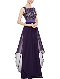 Mujer Vintage Largo Vestidos Elegante De Encaje Vestido De Fiesta De Noche Para Ceremonia Coctel Partido
