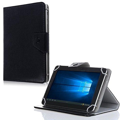 NAUC Tablet Tasche für Odys Cosmo Win X9 Hülle Schutzhülle Case Schutz Cover Bag, Farben:Schwarz