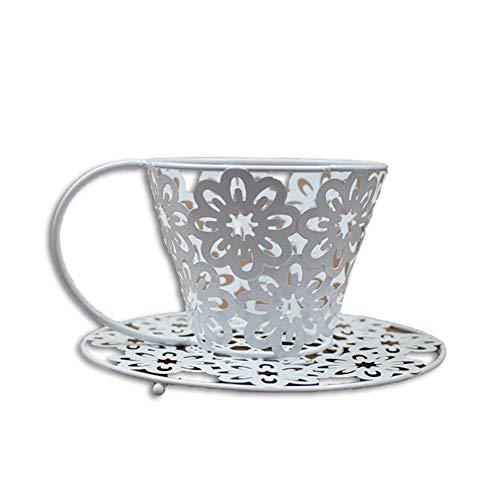 Hohl Schmiedeeisen Kerzenständer Europäische Kreative Heimat Teetasse Muster Metall Handwerk Ornamente