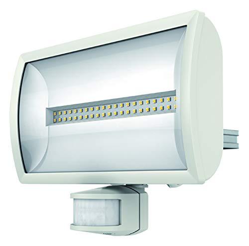 Theben 1020815 theLeda EC30 WH – LED-Strahler mit Bewegungsmelder, Flutlicht, Scheinwerfer, schwenkbar, 30 Watt, weiß