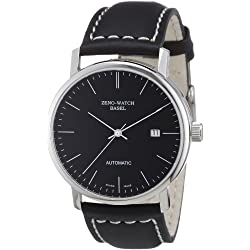 Zeno Watch Basel Herren-Armbanduhr XL Bauhaus Analog Automatik Leder 3644-i1
