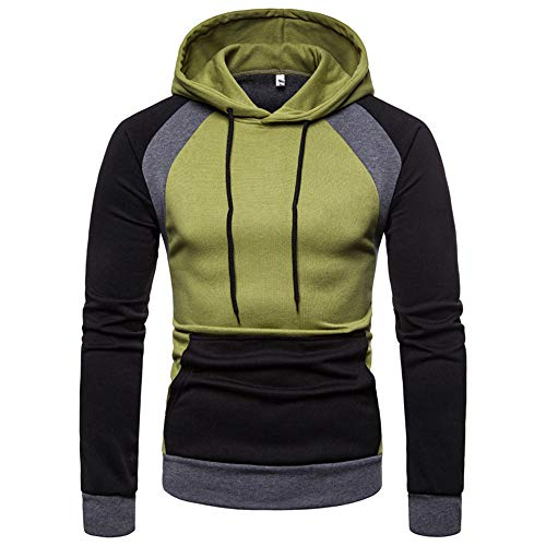 Herren Hoodie,TWBB Pullover Kapuzenpullover Raglan Farbe Nähen Schlank Winter Lange Ärmel Mantel Outwear Sweatjacke Hemd