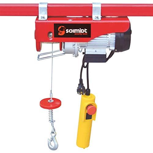Elektrische Seilwinde Motorwinde Flaschenzug Kran Seilzug Winde für bis 400 kg 12m Stahlseil SCHMIDT security tools