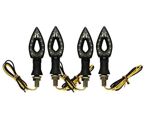 4 X Golden Seeds Indicatori di Direzione Universali Moto Ambra Giallo Segnale Frecce con 12 LED SMD3528