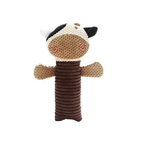 efsdhg Pet Chew Greiflinge Nette Quietschende Puppe Plüschtiere Mallard Ton Spielen Chew Spielzeug Für Haustiere Hunde Katzen Kaffee Kuh