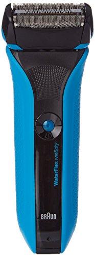Braun - Rasoio Wet & Dry Waterflex a testina rotante BWFS2, colore: Blu