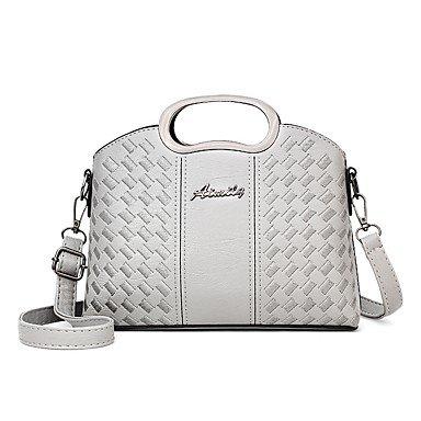 Damenmode Faux/PU Leder Schulter Messenger Crossbody Mini Bag Gray
