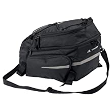 VAUDE Unisex_Adult Silkroad Plus (Snap-it) Bicycle Bags, Black, standard size