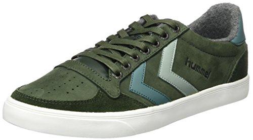 Hummel Unisex-Erwachsene Slimmer Stadil Duo Oiled Low Sneaker, Grün (Rosin), 46 EU (Erwachsenen Schuhe, Lifestyle-schuhe)