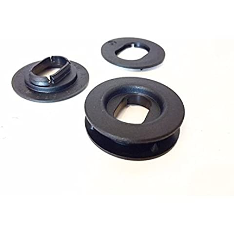 Kit 2* fijación negra Oval de alfombra de suelo para Volvo Audi Volkswagen/rx31