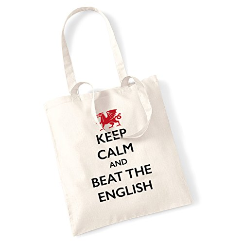Keep calm and beat the English tote bag natur