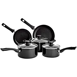 AmazonBasics 5-Piece Non Stick Induction Cookware Set - Including Frying Pan, Saucepan and Casserole with Lids, PFOA&BPA… 29