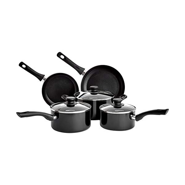 AmazonBasics 5-Piece Non Stick Induction Cookware Set - Including Frying Pan, Saucepan and Casserole with Lids, PFOA&BPA… 1