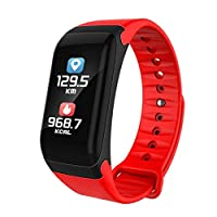 Awtang F1 Plus Color Screen Smart Bracelet IPS Colorful Touch Screen Fitness Tracker BT 4.0 Watchband Heart Rate Blood Smart Bracelet