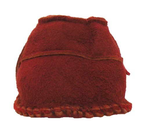 Plateau Tibet - ECHT LAMMFELL Baby Kinder Schuhe Krabbelschuhe ----- IN 6 FARBEN ----- Rot (Red)