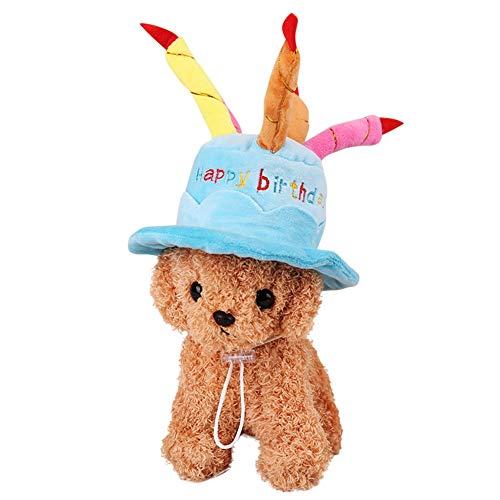 Smilikee Haustier Katze Hund Geburtstag Caps Hut mit Kuchen Kerzen Design Birthday Party Kostüm Headwear Zubehör