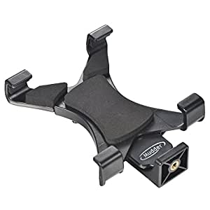 Universal Tablet Tripod Mount Adapter for iPad, Samsung Tab and Other Tablets, Phablets or Smart Phones - Use on Monopod, Selfie Stick