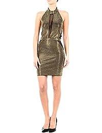 Balmain Mujer 3495740MC5100 Negro/Oro Fibras Metálicas Ropa
