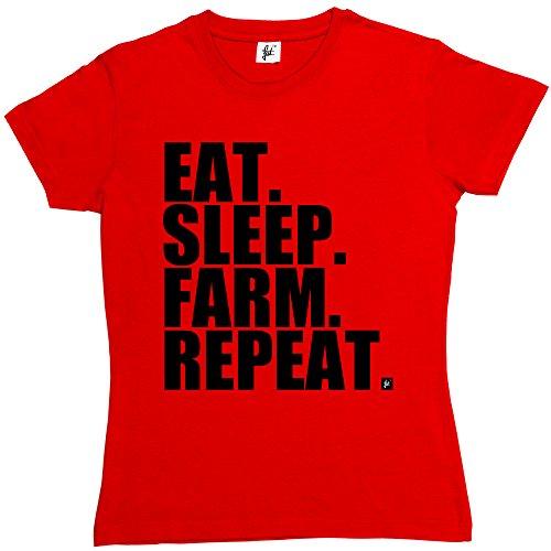 eat-sleep-farm-repeat-farming-farmers-tractor-womens-ladies-t-shirt-size-m-34-36-inch-chest-colour-r