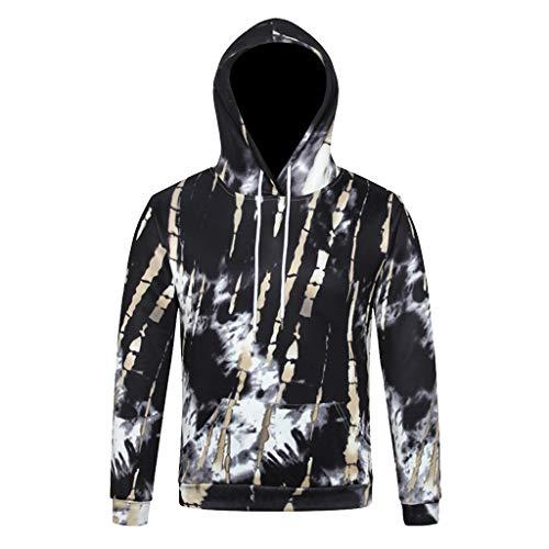 feiXIANG Unisex 3D Hoodie Herren Damen Langarm Sweatshirt Gedruckt Kapuzenpullover Halloween Weihnachten Pullover(Schwarz 3,5XL)