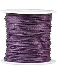 Zacoo Gewachste Baumwolle Schnur Draht Fäden 80m Dunkle Lila 0.5mm