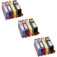 Prestige Cartridge HP 364XL 12 Cartucce d'Inchiostro Compatibile per Stampanti HP Photosmart/Deskjet/Officejet Serie, Nero/Ciano/Magenta/Giallo