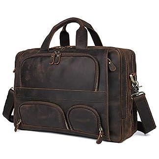 41wToVLbmSL. SS324  - Bolso de cuero para hombres, bolso de negocios, 17 pulgadas, maletín de negocios, bolso de gran capacidad