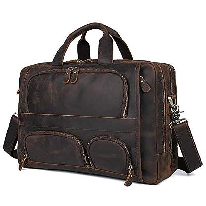 41wToVLbmSL. SS416  - Bolso de cuero para hombres, bolso de negocios, 17 pulgadas, maletín de negocios, bolso de gran capacidad