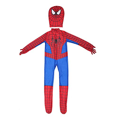 QXMEI Avengers Spider-Man Superhelden-Muskelkostüm Halloween Cosplay Kostüm Anime Dress Up,Spiderman-S