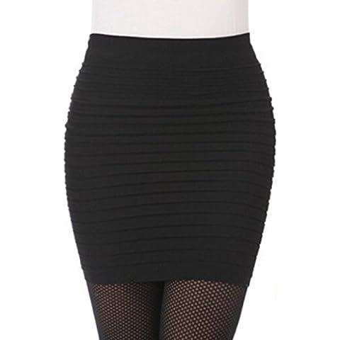 Ularma Vestido de mujer, plisada, alta falda corta paquete cintura de cadera