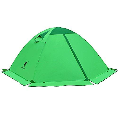 GEERTOP Tienda de campaña iglú Ligera Impermeable UV Resistente 2 Personas 4 Estaciones para Excursiones, Senderismo Travesía y Salidas al Aire Libre (Verde)
